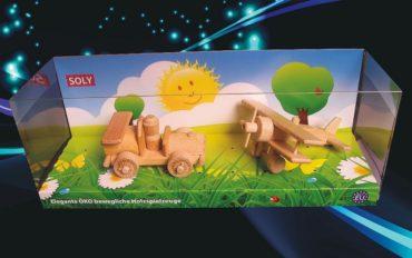 Závodné autíčko + malý dvojplošník | drevené hracky a darceky