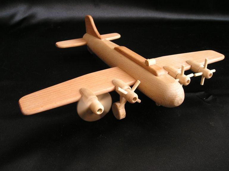 Veľké lietadlo hračka, vrtuľový bombardér B17  darček pre chlapcov