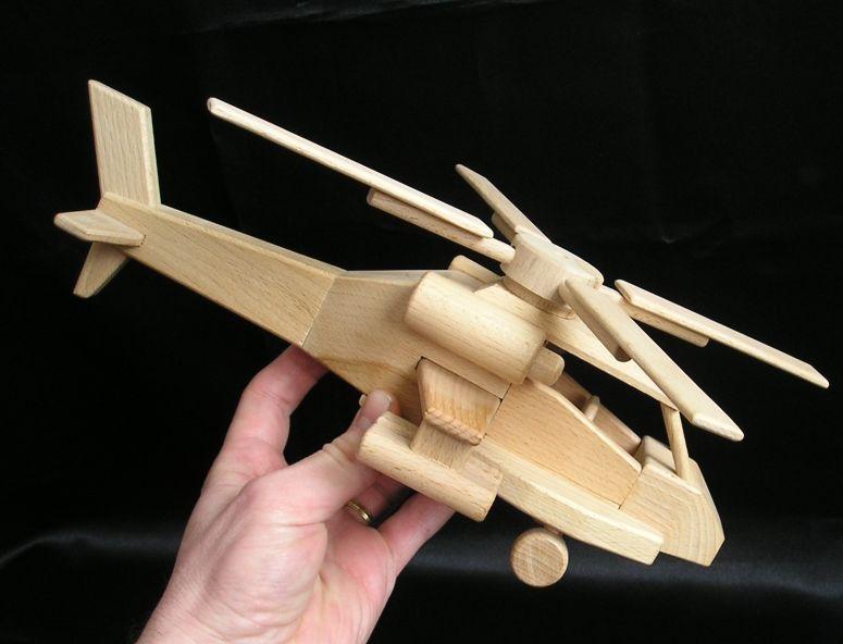 vrtuľník, helikoptéra Apache   drevené hračky   darčeky