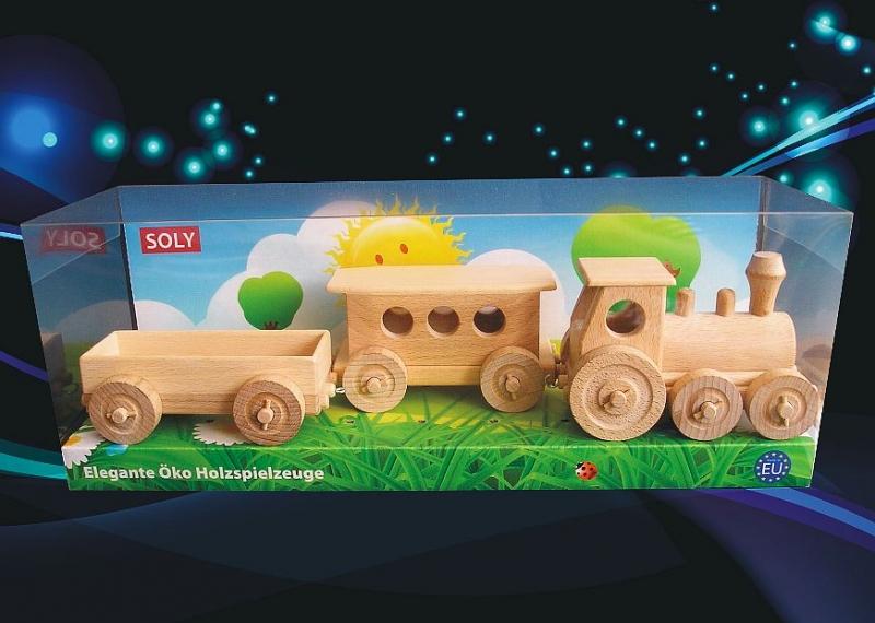 Drevené vláčiky, hračka pre najmenšie deti