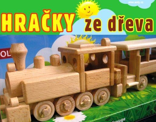 Drevený vláčik | Lokomotíva, mašinka | drevené hračky | darčeky pre vodičov