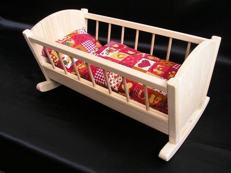 Hojdacie kolíska pre bábiky | drevené hračky pre deti