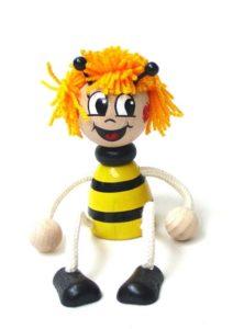 Včielka Mája hračka na pružine | drevené hračky