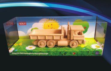 Nákladné auto | drevená hračka s výklopným kontajnerom