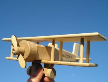lietadlo dvojplošník | drevené hračky
