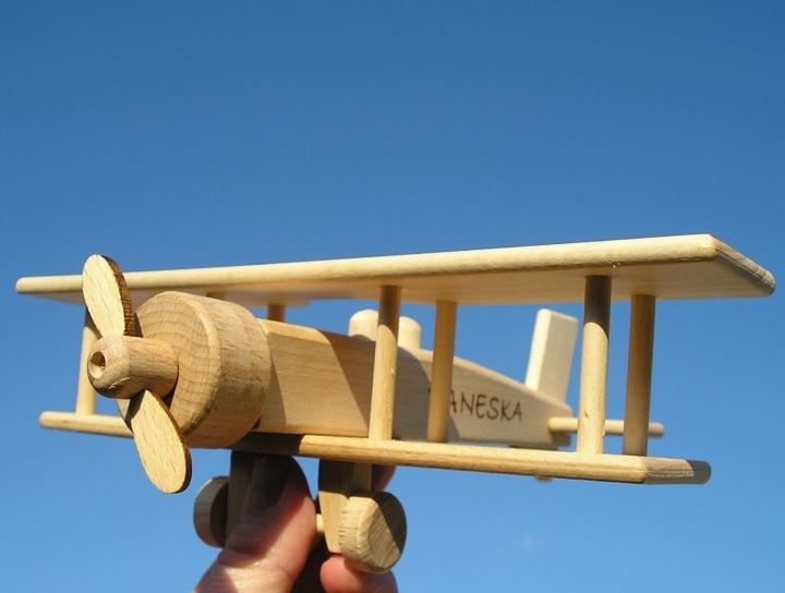 lietadlo dvojplošník | drevené hračkydrevene-hracky