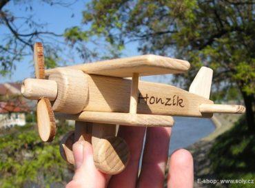 Malé lietadlo, drevené letadlo - dvojplošník | drevená hračka