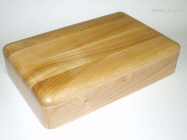 Krabička na šperky | drevená šperkovnica obdĺžnik svetlá