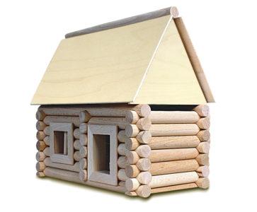 Stavebnica z dreva pre 17 rôznych budov a domov | drevené kocky