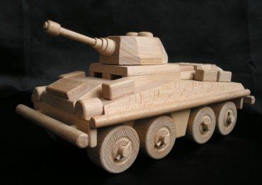 Transportér tank | drevené hračky | vojenské darčeky pre vodičov