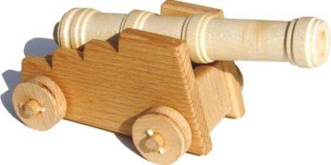 Historické delo, kanon z dreva - drevené hračky