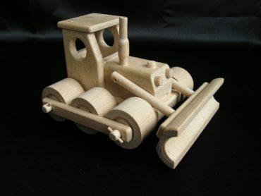Buldozér - drevená hračka