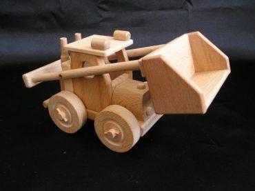 Buldozér, nakladač piesku | drevené hračky