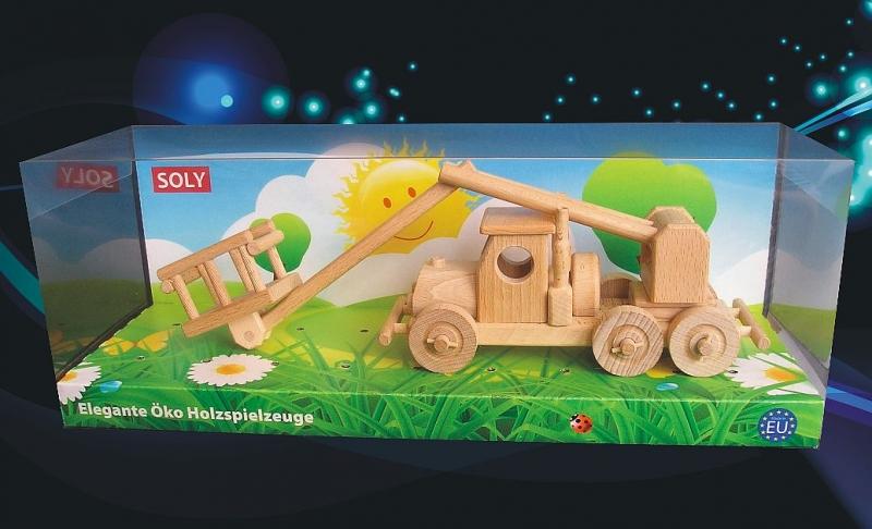 Plošinové auto | drevená hračka | darček pre vodičov autoplošínely