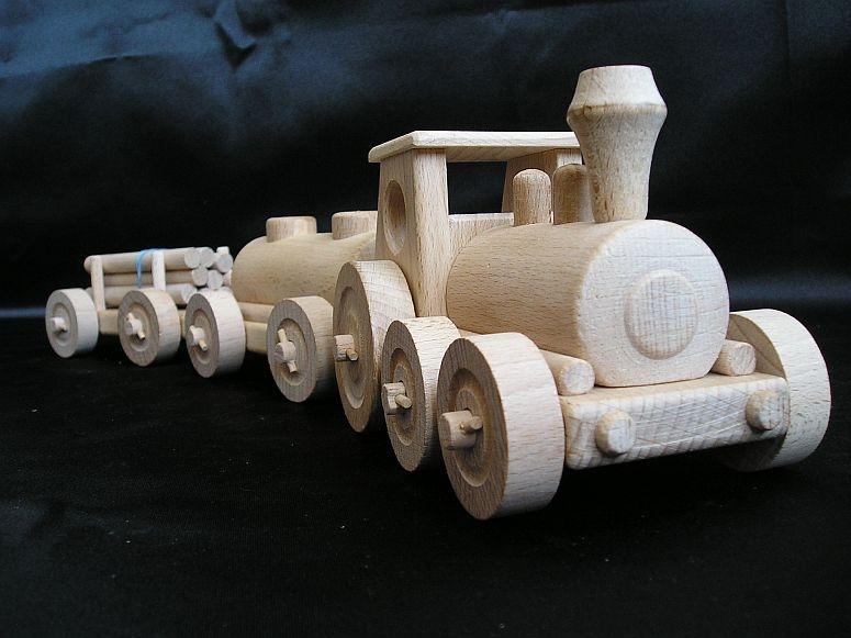 Drevený vláčik | drevené hračky | darčeky pre vodičov