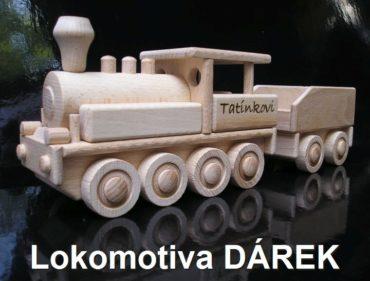 Parná lokomotíva | drevené vláčiky hračky