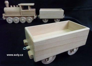 Nákladný vagón pre parnú lokomotívu | drevené hračky