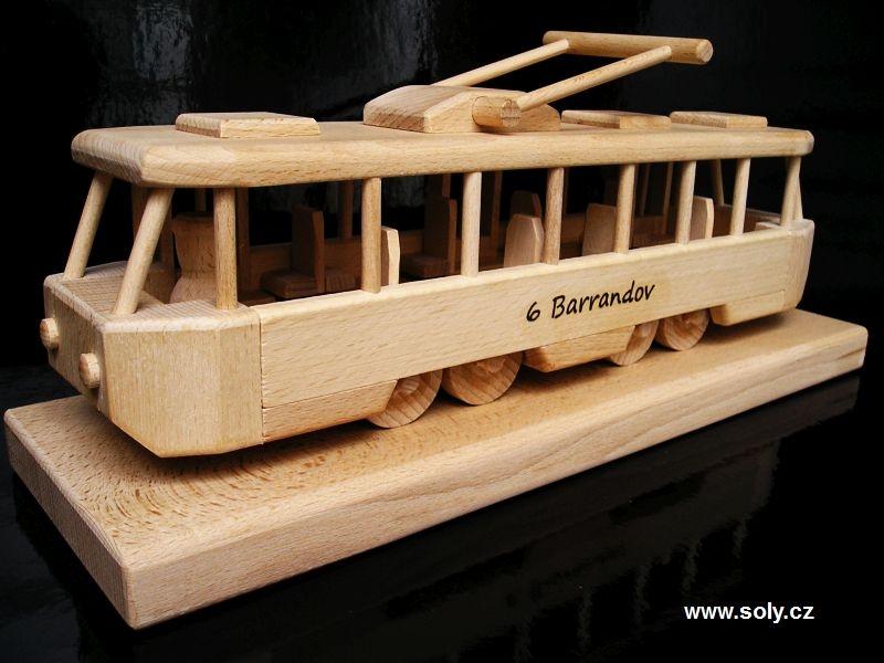Električka TATRA | drevené hračky | darčeky pre vodičov