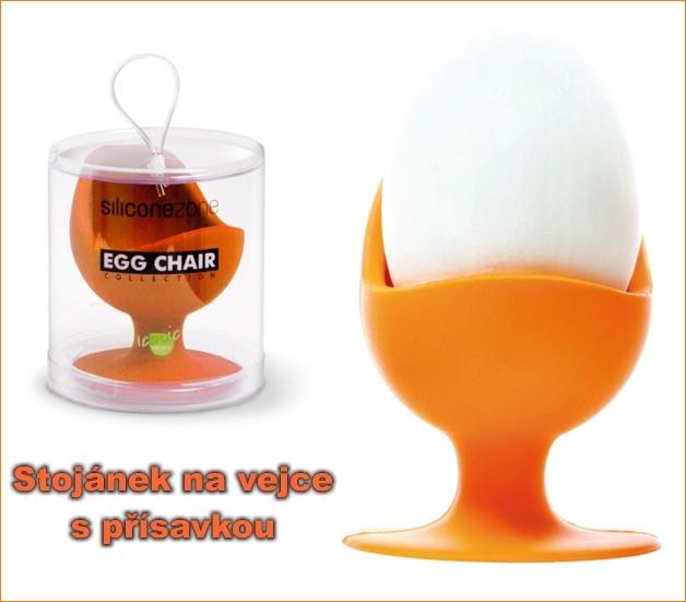 Stojanček, kalíšok na varené vajcia s prísavkou, silikónové formye-formy