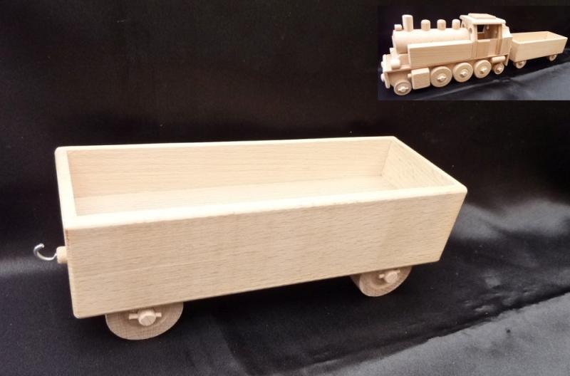 Připojný vagón k lokomotíve DR | drevené hračky | darčeky pre rušňovodičov