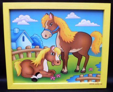 Koník a žriebätko | detské maľované obrázky na stenu