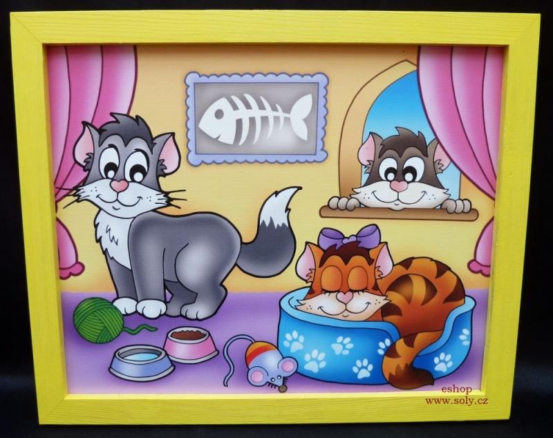 Mačičky, mačky | detské maľované obrázky na stenu do dětského pokoja