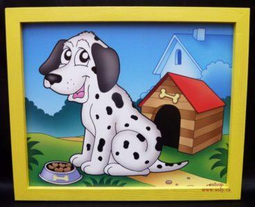 Psík, pes, psíci | detské maľované obrázky na stenu do detského pokoja
