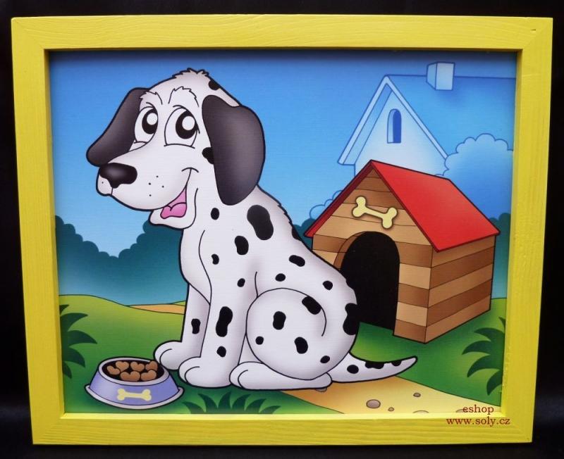 Psík, pes, psíci | detské maľované obrázky na stenu do detského pokojalovane-zviratka-pejsek-pejsci