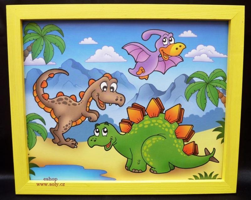 Zvieratká pravek | detské maľované obrázky na stenu | brontosaurus, tyranosaurus