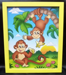Opičky, opička   detské maľované obrázky na stenu