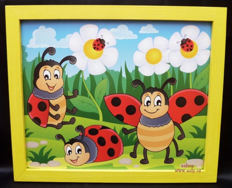 Lienka sedembodkové | detské maľované obrázky na stenu
