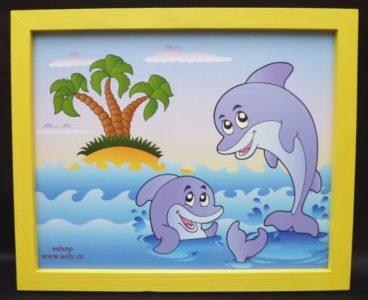 Delfín, delfín, more | detské maľované obrázky na stenu