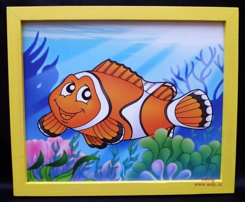 Morská rybka, ryby, rybyčky v mori | detské maľované obrázky na stenu