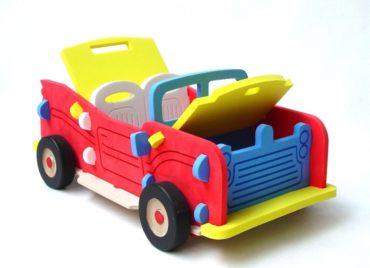 Obrovské detské auto kabriolet - stavebnice hračka