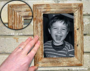 13x18 cm biely | drevený retro fotorámček, rám, rámčeky, fotorám