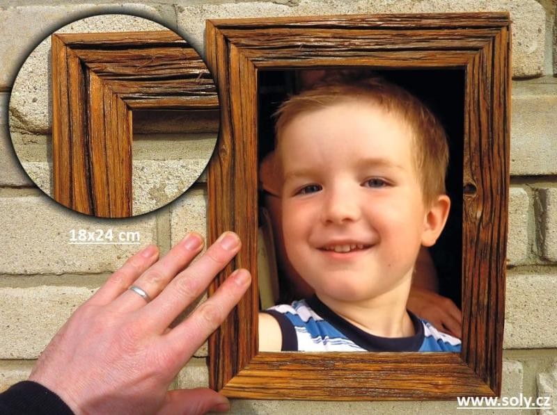 18×24 cm natural | drevený retro fotorámček, rám, rámčeky, fotorám