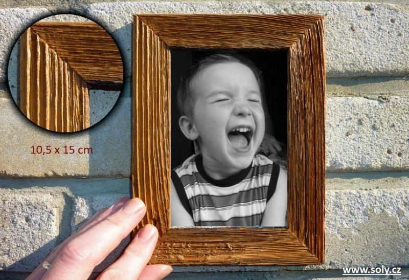 10×15 cm prírodná   drevený retro fotorámček, rám, rámčeky, fotorám