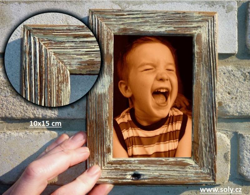 10×15 cm biela | drevený retro fotorámček, rám, rámčeky, fotorám