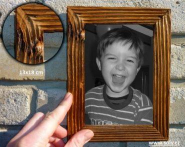 13x18 cm natur | drevený retro fotorámček, rám, rámčeky, fotorám