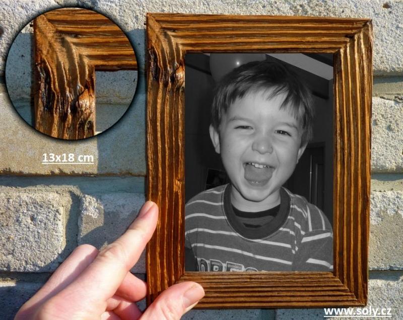 13×18 cm natur | drevený retro fotorámček, rám, rámčeky, fotorám