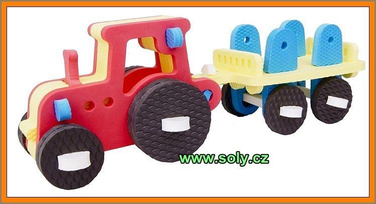 Traktor stavebnica z peny | bezpečné, českej výroby