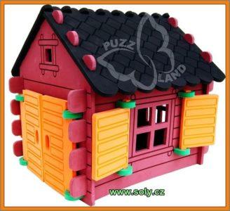 Zrub, srub, chata hračka stavebnice | bezpečné, českej výroby