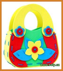 Detská dievčenská kabelka - penová skladačka, hračka pre dievčatká
