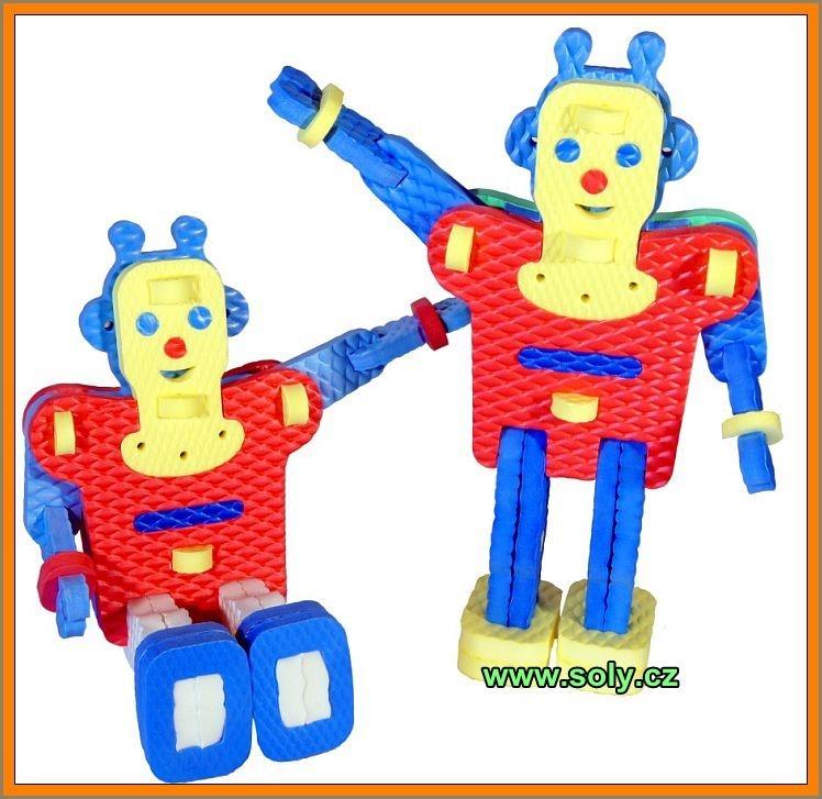 Robot puzzle, stavebnice, hračka pre najmenšie deti