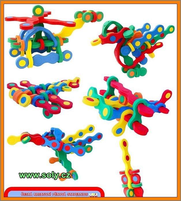 Vrtuľník, liatadlá, lietame | penová stavebnice hračka pre deti | bezpečné, českej výroby