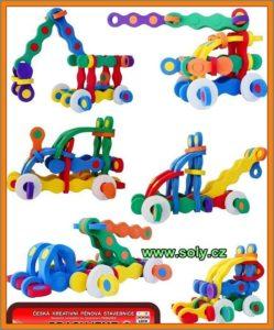 Stavebné stroje stavebnice | bagr, žeriav, buldozer hračka pre deti