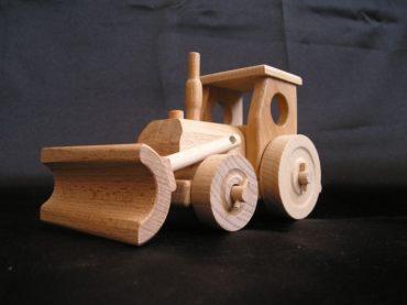Traktor s radlicou | drevené darčeky | drevená hračka