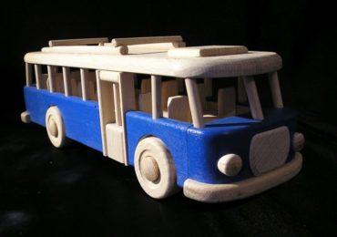 Autobus RTO hračka pre deti, drevený darček