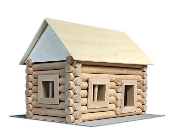 Domček chata chalupa zrub | drevená stavebnica pre detinice-hracka