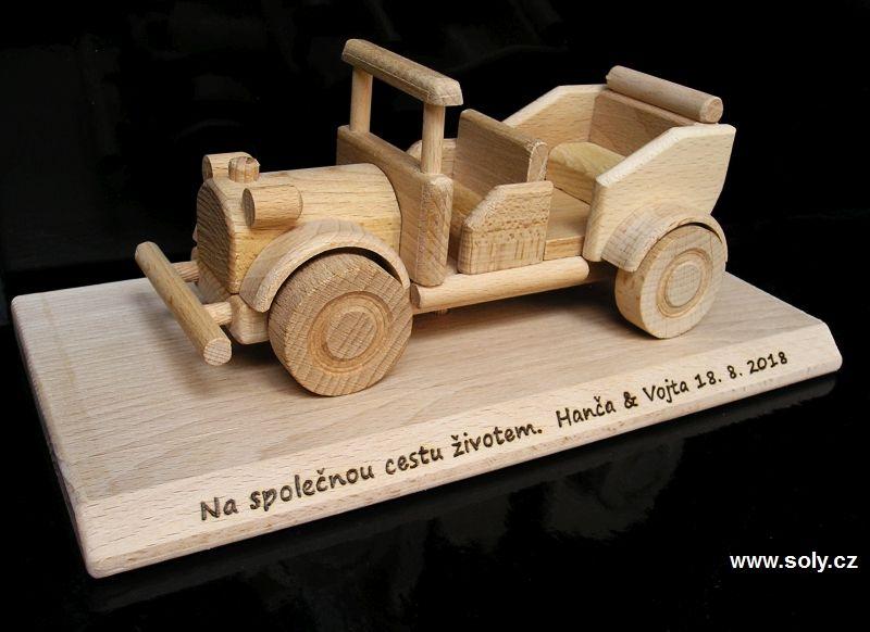 Veterán drevené auto, vozidlo, autoveteránov | darčekydarky-drevene